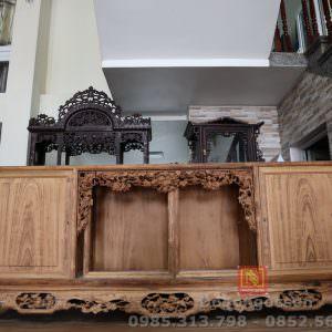 Tủ chè trơn gỗ gụ ta, đồ gỗ ngọc sơn