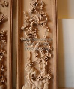 Tứ quý gỗ gụ tùng trúc cúc mai