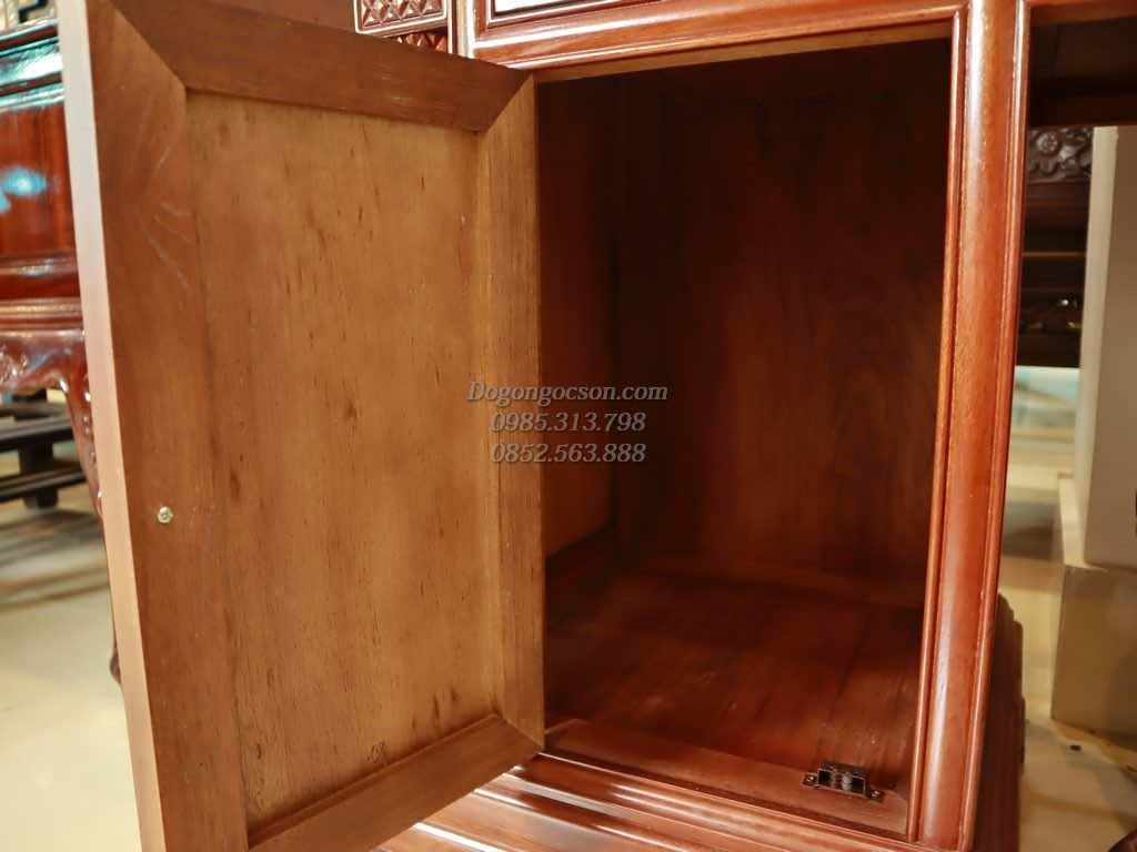 Ngăn kéo cũng như mặt trong của tủ