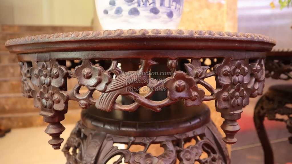 Đôn gỗ đẹp đôn váy gỗ gụ DON006