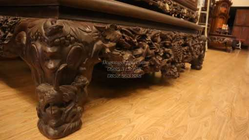 sập mai điểu gỗ gụ