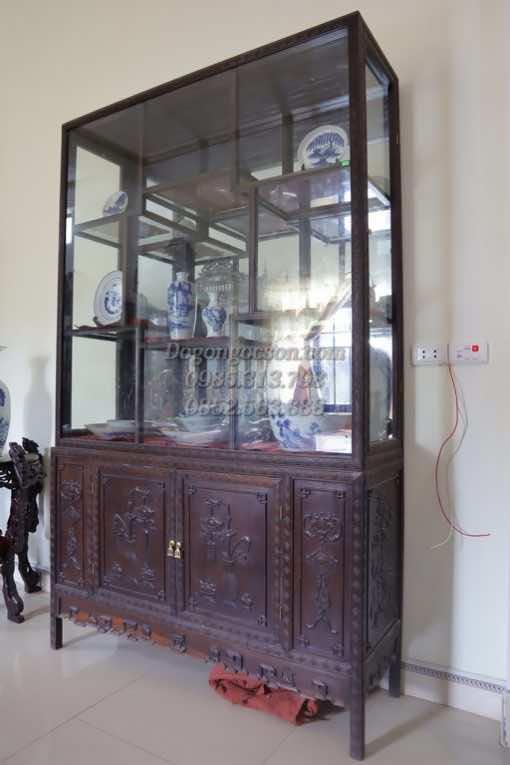Tủ rượu vang đẹp gỗ gụ TRG004