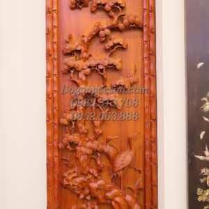 Tùng cúc trúc mai gỗ hương TQ012