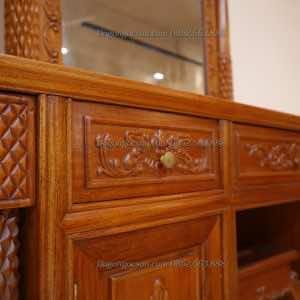 Bàn trang điểm louis gỗ hương BTD006