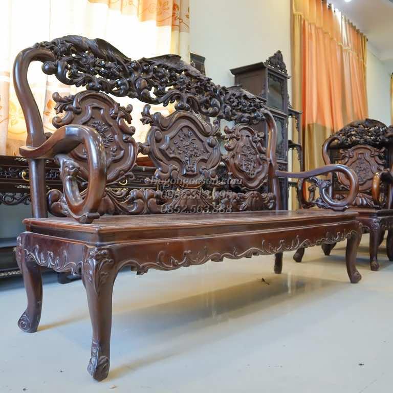 Bàn ghế gỗ thái phượng