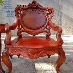 Ghế đơn của bàn ghế hoàng gia gụ ta mẫu 2 Lou007