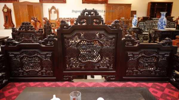 Giường ba thành gỗ gụ ngũ lân GBT002
