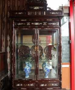 Tủ rượu khảm gỗ gụ TRG006