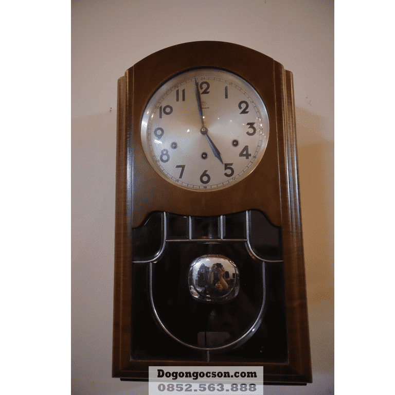 đồng hồ gỗ treo tường Junghans nguyên chiếc