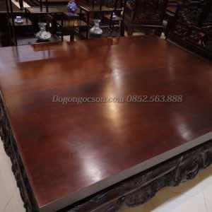 sập gụ louis mặt gỗ nguyên khối SD010