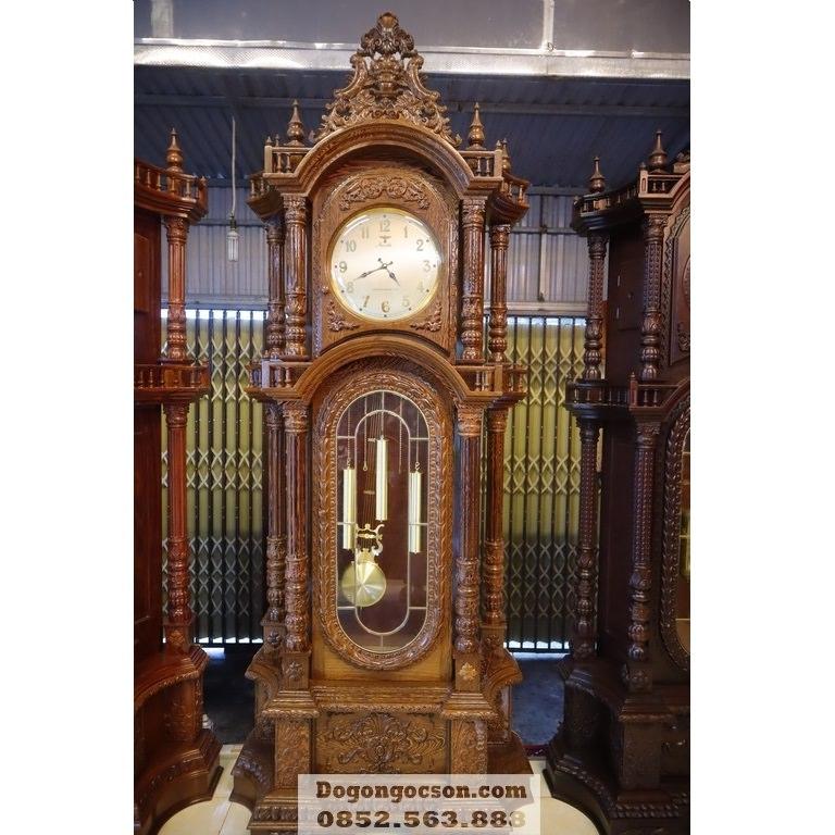 Đồng hồ cây gỗ mun máy Hàn Quốc DHC010