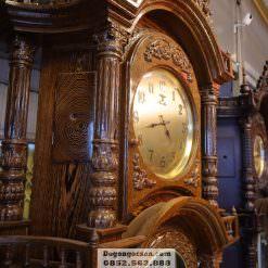 Hình ảnh của đồng hồ gỗ mun máy Hàn Quốc DHC010