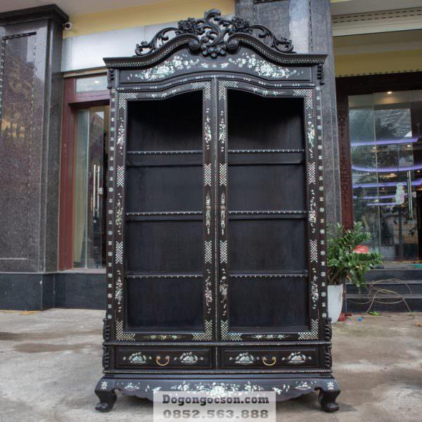 Tủ rượu gỗ khảm ốc lối xưa TRG007